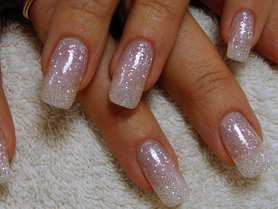 Frnch Manicure With White Art Designs